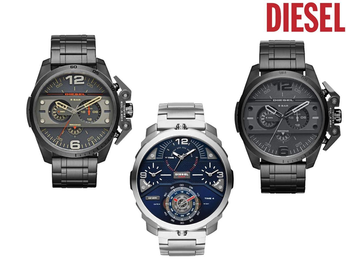 58 korting diesel ironside horloges ibood