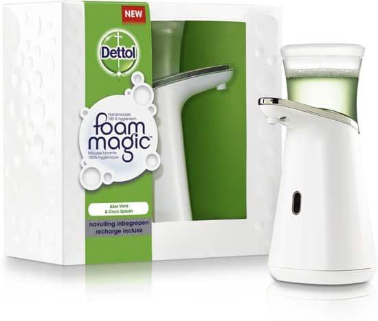 dettol foam magic automatische zeepdispenser starter alo vera navulling
