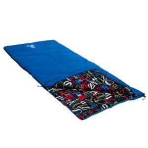 nomad sleepy head slaapzak 205x80 cm classic blue print