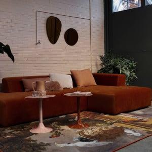 product 4x6 sofa x6 velours hoekbank rechts roest bruin 1