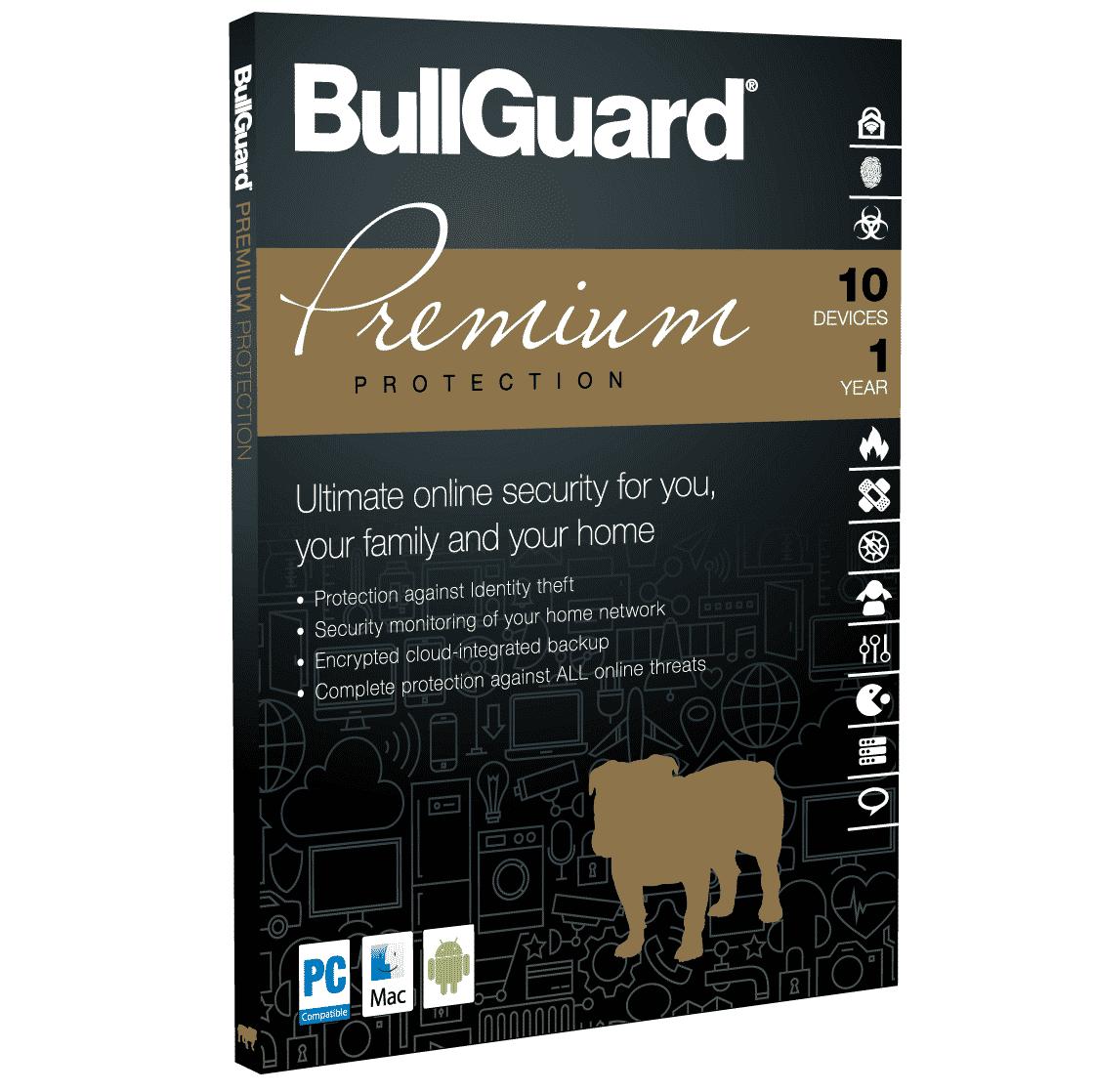 product bullguard premium protection antivirus software 10 apparaten