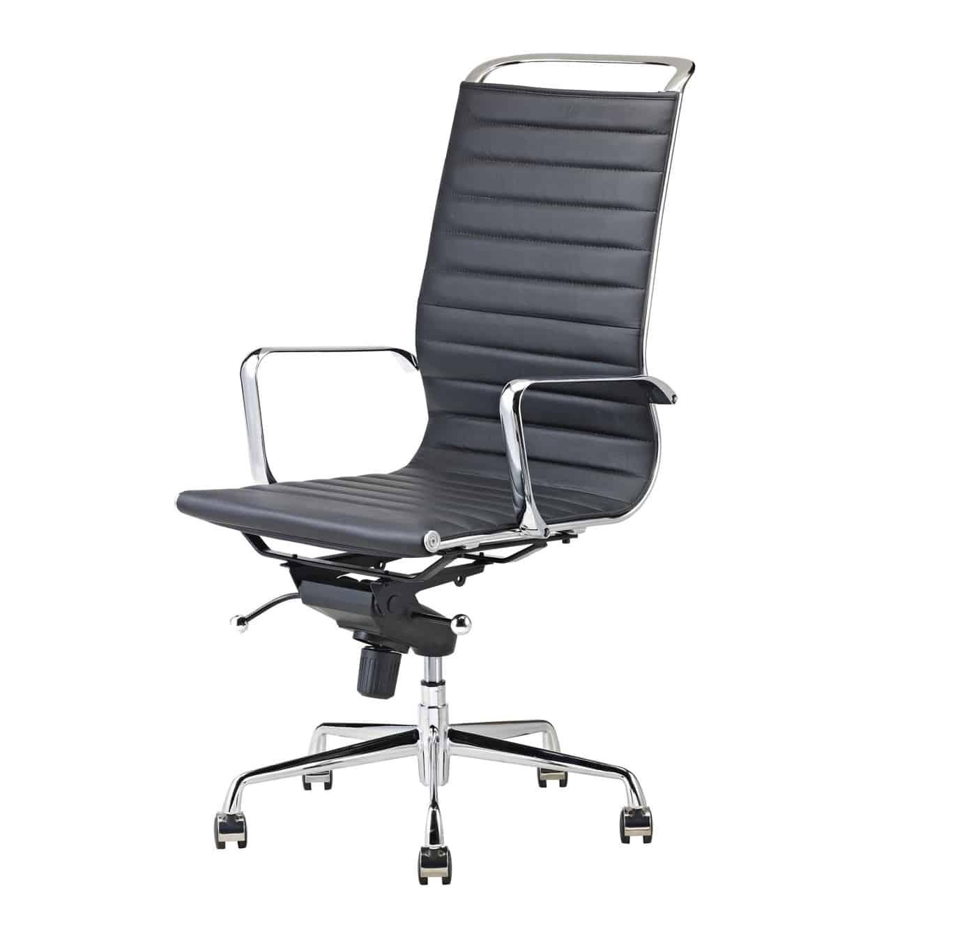 Luxe Leren Bureaustoel.Feel Furniture Leren Luxe Design Ergonomische Bureaustoel Met Hoge
