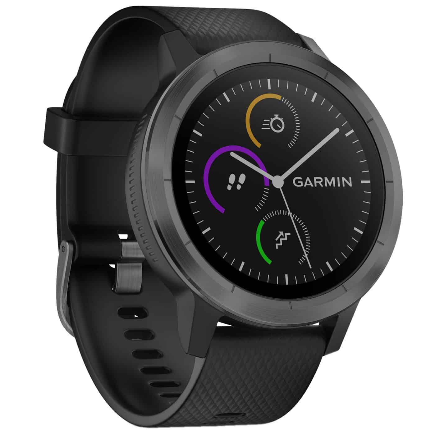 garmin v voactive 3 rvs smartwatch gps zwart. Black Bedroom Furniture Sets. Home Design Ideas