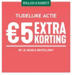 €5 Extra korting met 1 + 1 Actie bij Holland & Barrett