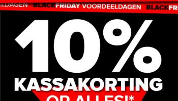 10% Extra Kassakorting op alles met Black Friday voordeeldagen bij Baby-Dump