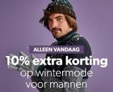 10% Extra korting op wintermode voor mannen bij Wehkamp