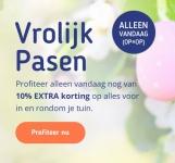 10% Extra Paaskorting met kortingscode op 62 tuin producten bij Koopjedeal