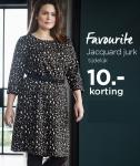 €10 Korting Favourite Jacquard Jurk voor €39,99 bij Miss Etam