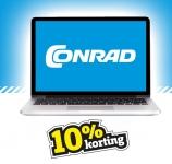 10% korting met kortingscode bij Conrad