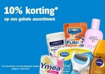 10% kortingscode op gehele assortiment bij drogist.nl