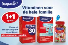 1+1 gratis Dagravit vitamines bij trekpleister