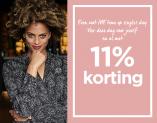11% Korting op alle mode met Singles Day bij Miss Etam