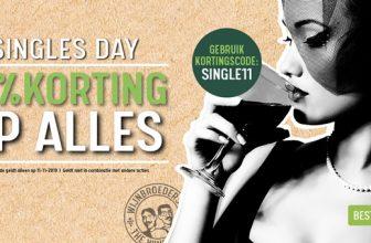 11% Kortingscode op alles met Singles Day bij Wijnbroeders