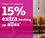 15% Extra Korting op alles met 100 Jaar Viering bij Leen Bakker
