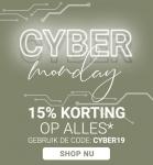 15% Kortingscode op alles met Cyber Monday bij The Little Green Bag