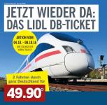 2 Treinkaarten in Duitsland (ook ICE) €49,90 bij Lidl