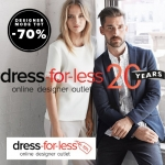 20% Extra Korting en Gratis verzending met 20 jaar viering bij dress-for-less