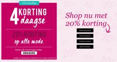 20% Korting met 4daagse Korting op alle mode bij OTTO