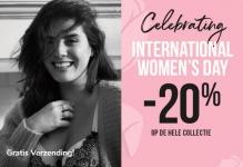 20% korting en gratis verzending op de hele collectie met International Women's Day bij Hunkemöller