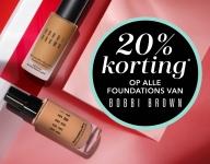 20% Korting op alle Bobbi Brown foundations bij Douglas
