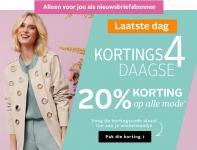20% Korting op alle mode met Kortings4daagse voor abonees bij OTTO