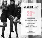 20% korting op de hele collectie met Memberdays bij Hunkemöller