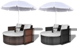 €21 Korting Loungeset met parasol voor €199 bij Groupon