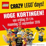 25% Korting op LEGO en DUPLO met Crazy Lego Days