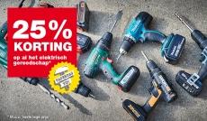 25% korting op elektrisch gereedschap vaderdagactie bij Praxis