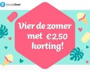 €2,50 Extra korting met kortingscode vier de zomer bij Social Deal