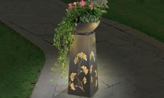 28% Korting EASYmaxx Decoratieve zuil met plantenbak met LED verlichting voor €49,99 bij Groupon