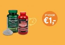 2e artikel voor €1 op 1477 producten bij Holland & Barrett