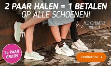 2e paar gratis op alle schoenen bij Koopjedeal