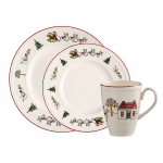 3 + 1 Gratis Wedgwood Windsor Christmas Kerstservies bij Blokker