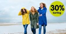 30% korting Lange regenjassen voor €62,30 voor leden bij ANWB