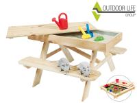 34% Korting Kinderpicknicktafel met Zandbak bij iBOOD