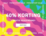 40% Korting + Gratis verzending met Fresh Start Sale bij Happy Socks