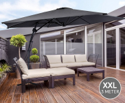 45% Korting Luxe XXL Zweefparasol van 3 meter voor €79,95 bij Voordeelvanger