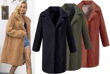 47% korting Lange teddy jas voor €39,99 bij Vouchervandaag.nl