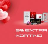 5% Extra Kortingscode tijdens Valentijnsweekend bij  Koffievoordeel