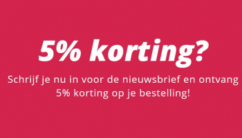 5% Kortingscode aanmelden nieuwsbrief bij Smartphonehoesjes.nl
