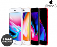 50% Korting Apple iPhone 8 64 GB(Refurbished) + Hoesje en Tempered Glass voor €299,99 bij Telegraaf Webshop