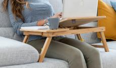 50% Korting Bamboe Opklapbare Laptoptafel voor €24,95 bij Actievandedag