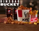 50% Korting Dinsdag Bucket deal voor €10 bij KFC