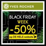 50% Korting op de hele site tijdens Black Friday Week bij Yves Rocher