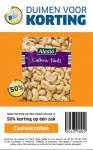50% korting op één zak cashewnoten bij Lidl