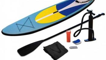 50% Korting Opblaasbaar SUP Paddleboard incl. pomp en accessoires. voor €199 bij Koopjedeal