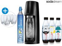 50% Korting SodaStream Spirit Starter Pack met 3 hippeflessen & 4 Glazen bij iBOOD