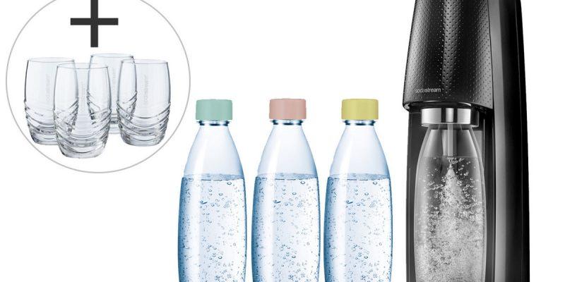 50% Korting SodaStream Spirit Starter Pack met Vulflessen & 4 Glazen bij iBOOD