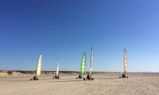 54% korting op Blokarten: windsurfen (op wielen) op IJmuidense strand bij Groupon